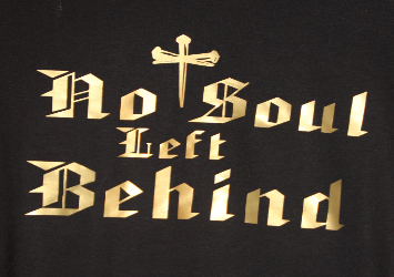 No Soul Left Behind Logo - Partial picture of a shirt